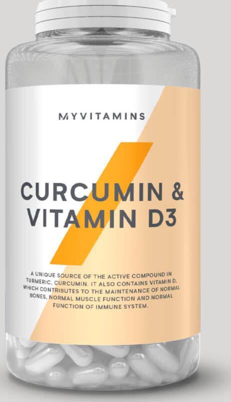 Myvitamins  Kurkumin a vitamín D3 - 180Kapsle