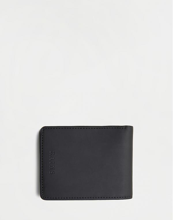 Rains Folded Wallet 01 Black