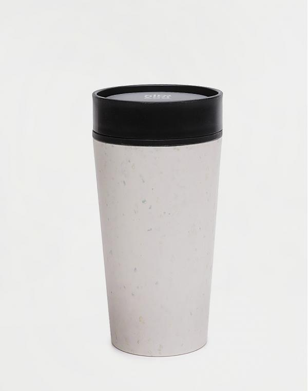 rCUP Circular Cup 340 ml Cream and Black