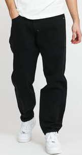 Mass DNM Slang Baggy Fit Pants black stone washed 36