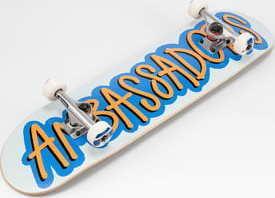 Ambassadors Komplet Skateboard Fresh bílý / modrý / oranžový 8.0