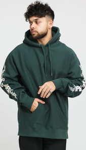 PLEASURES Razor Logo Hoody tmavě zelená