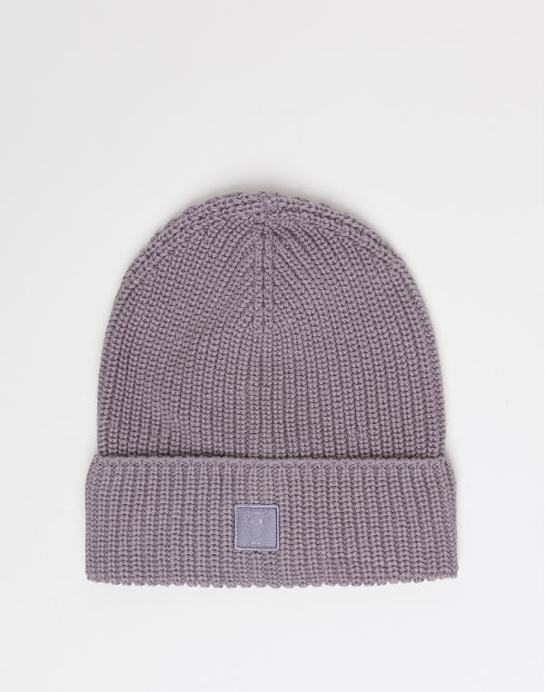 Knowledge Cotton LEAF ribbing hat 1315 Minimal Grey
