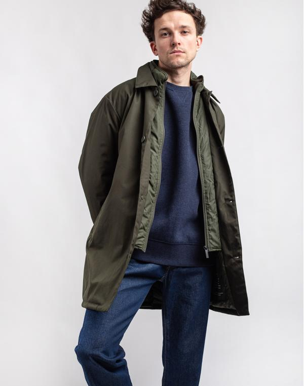 Knowledge Cotton Arctic canvas jacket with buttons 1090 Forrest Night M