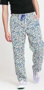 PLEASURES Eclipse Cheetah Beach Pant krémové / modré