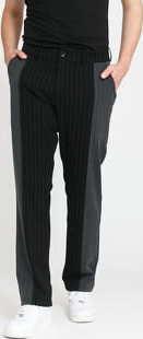 PLEASURES Shock Stripe Pants černé / tmavě šedé 36
