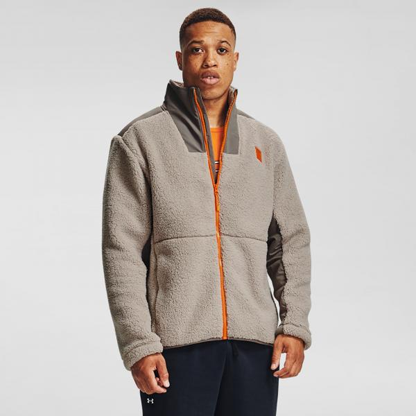 Under Armour Legacy Sherpa Swacket Highland Buff/ Brown Umber/ Vibe Orange