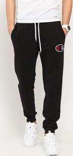 Champion Satin C Logo Cotton Terry Joggers černé