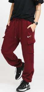 Nike W NSW Cargo Pant Loose Fleece vínové