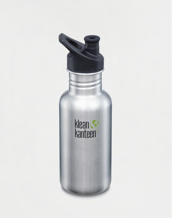 Klean Kanteen Classic 532 ml (w/Sport Cap) Brushed Stainless