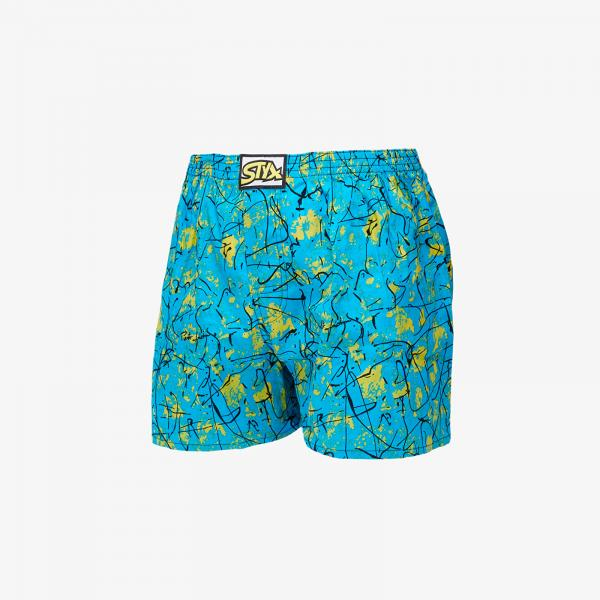 Styx Boxers (A851) Blue/ Yellow