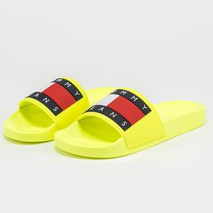 TOMMY JEANS Tommy Jeans Flag Pool Slide hyper yellow