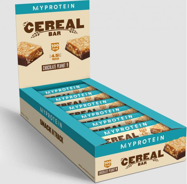 Myprotein  Cereální proteinová tyčinka - 18 x 30g - Čokoláda a Arašídy