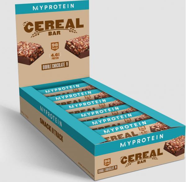 Myprotein  Cereální proteinová tyčinka - 18 x 30g - Dvojitá Čokoláda