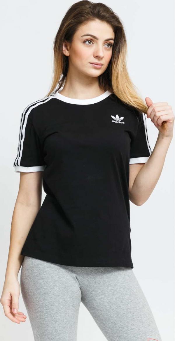 adidas Originals 3 Stripes Tee černé
