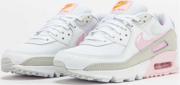 Nike WMNS Air Max 90 white / pink foam - total orange