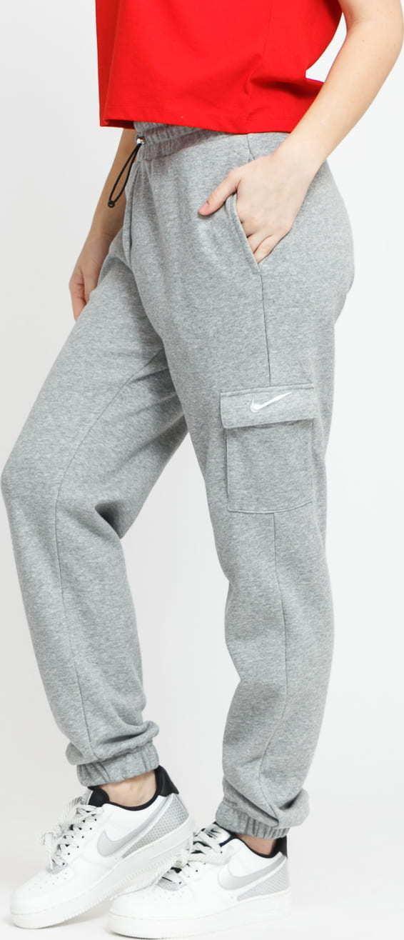 Nike W NSW Swoosh Pant FT MR melange šedé