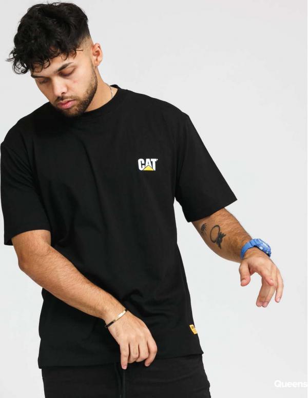 CATERPILLAR Small Logo Tee černé