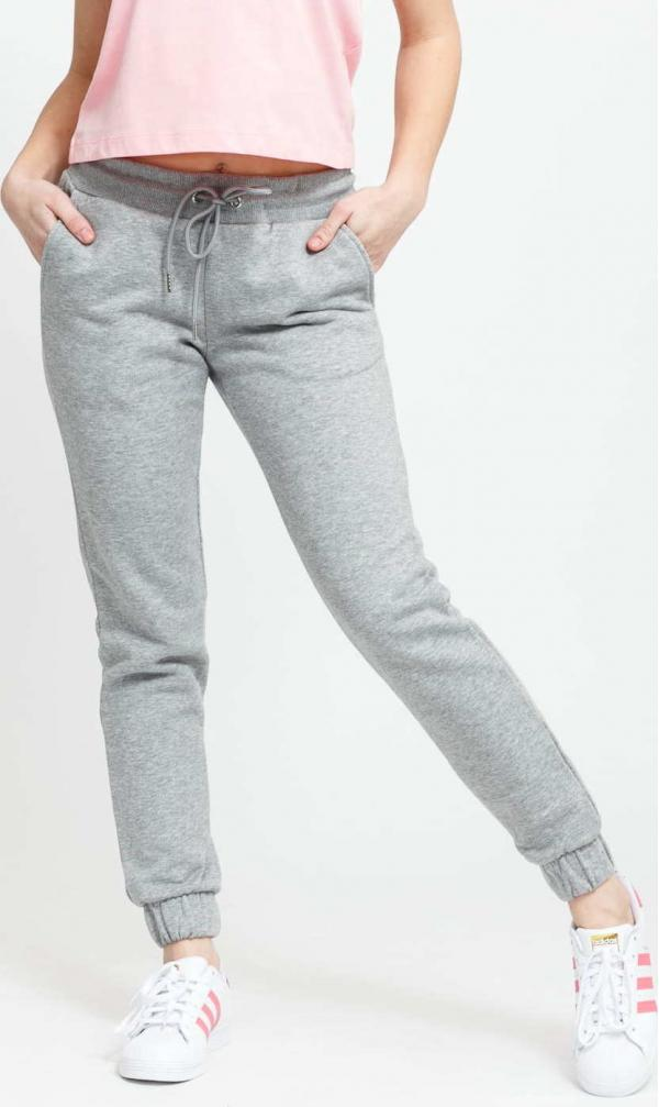 Urban Classics Ladies Sweatpants melange šedé