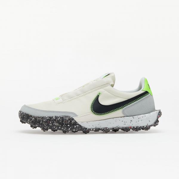 Nike Waffle Racer Crater Pale Ivory/ Black-Electric Green
