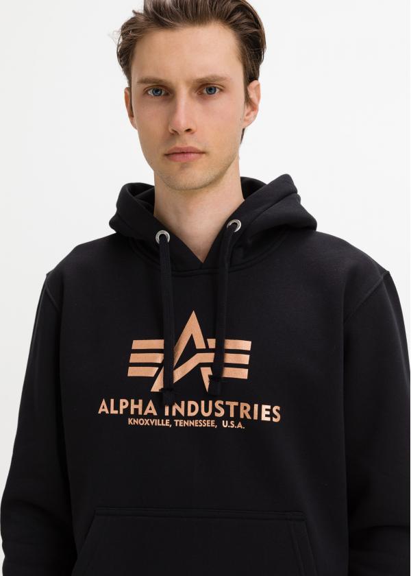 Basic Hoody Fool Print Mikina Alpha Industries