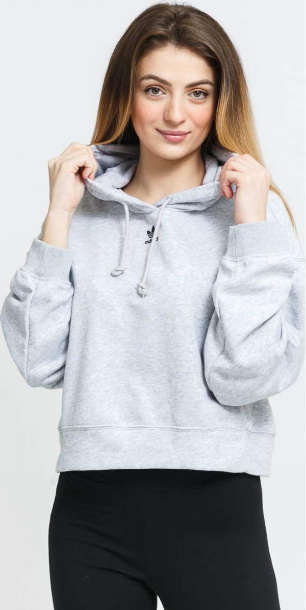 adidas Originals Hoodie melange světle šedá