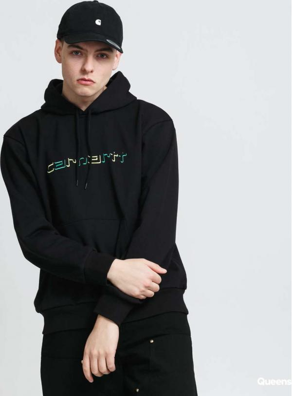 Carhartt WIP Hooded Shadow Script Sweat černá