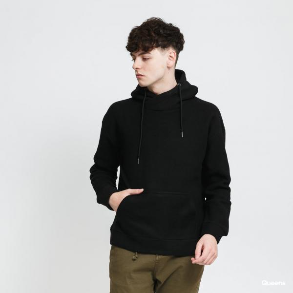 Urban Classics Polar Fleece High Neck Hoody černá
