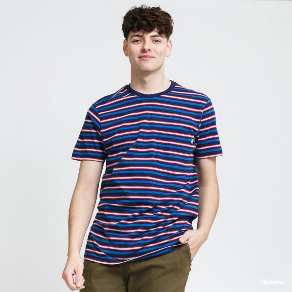 Urban Classics Fast Stripe Pocket Tee navy / modré / červené