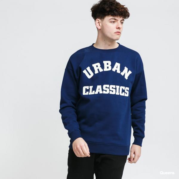 Urban Classics College Print Crew navy
