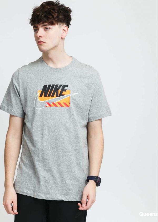 Nike M NSW Tee SP Brandmarks melange šedé
