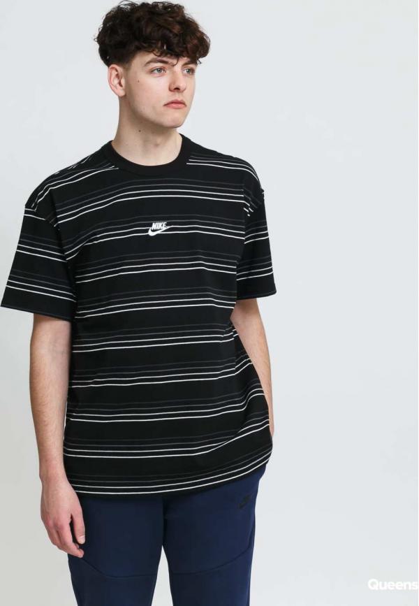Nike M NSW Tee Premium Essential Stripe černé