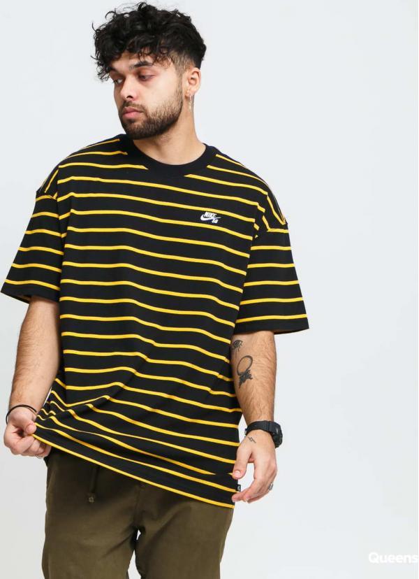 Nike M NK SB Tee YD Strip černé / žluté