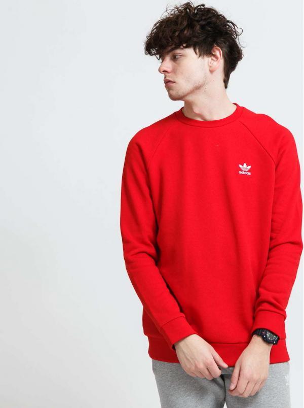 adidas Originals Essential Crew červená