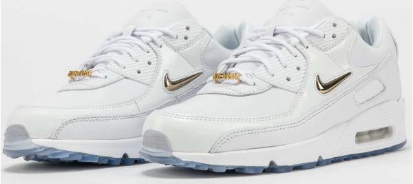 Nike Air Max 90 NGR white / metallic gold - clear