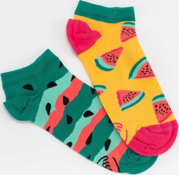 Many Mornings Watermelon Splash Low Socks