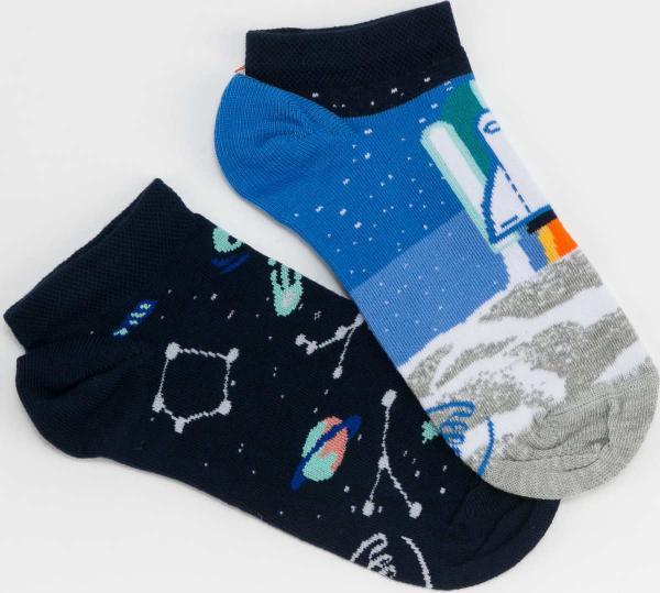 Many Mornings Space Trip Low Socks navy / modré / šedé / bílé
