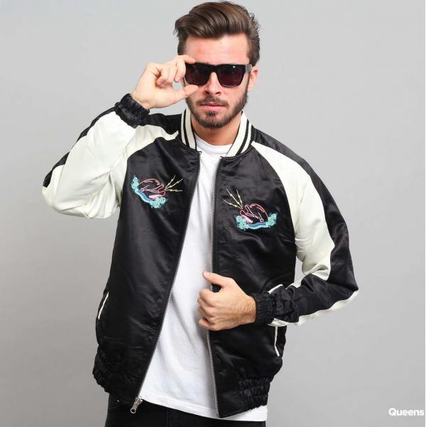 Pink Dolphin Reversible Souvenir Jacket černá / krémová
