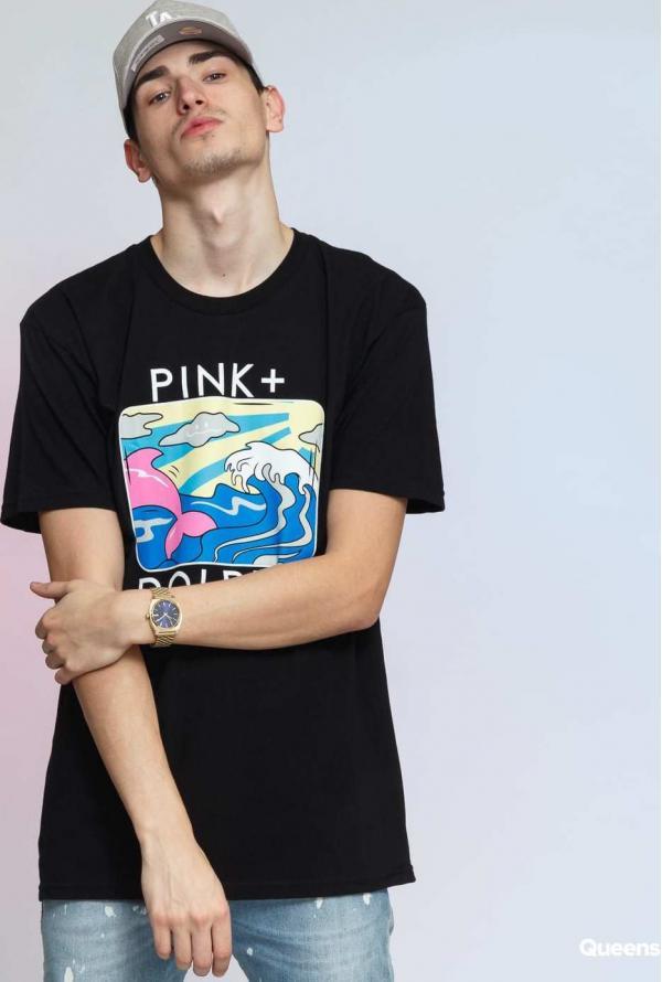 Pink Dolphin Holiday Portrait Tee černé