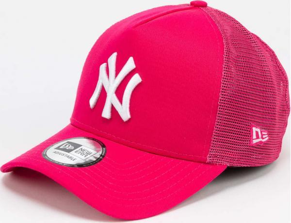 New Era 940K AF Trucker MLB Tonal NY tmavě růžová / bílá YOUTH (54 - 56 cm)