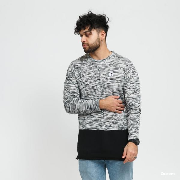 Pink Dolphin Marble Weave Lightweight Sweater šedý / bílý / černý