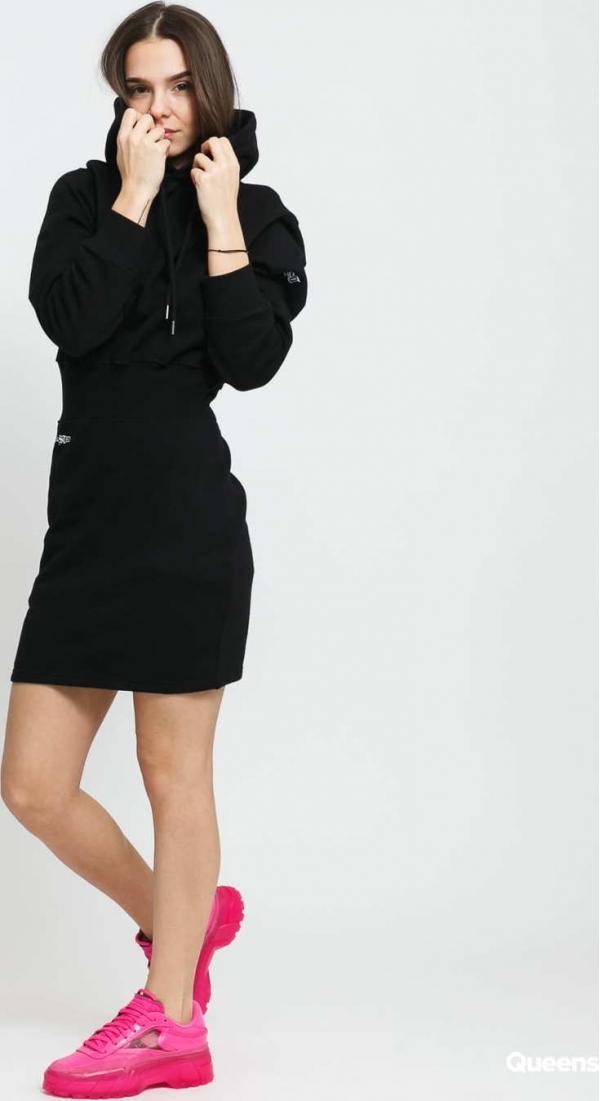 Wasted Paris W Mariah Hoodie Dress černé