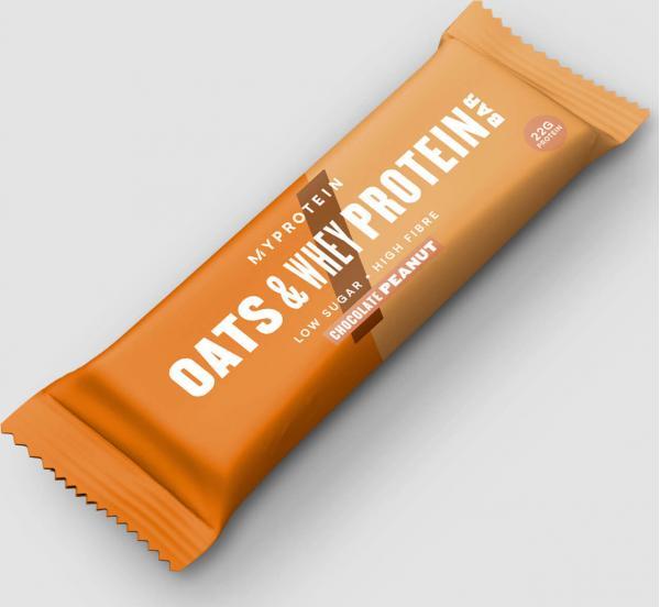 Myprotein  Oats & Whey proteinová tyčinka - Čokoláda a Arašídy
