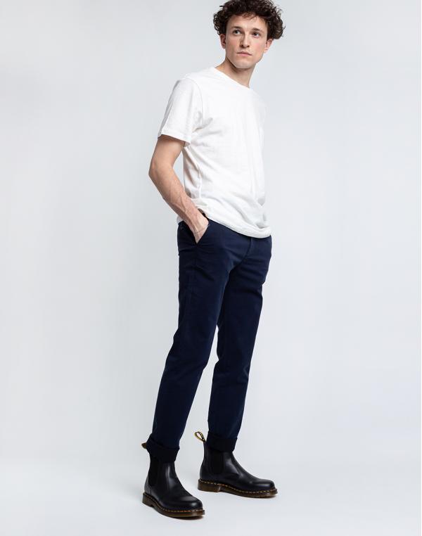 By Garment Makers The Organic Chino Pants 3096 Navy Blazer W32/L34