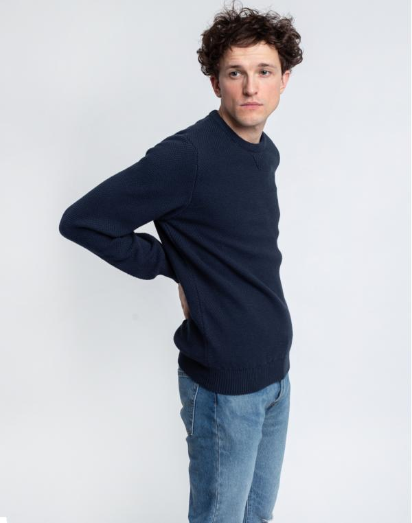 By Garment Makers The Organic Waffle Knit 3096 Navy Blazer S