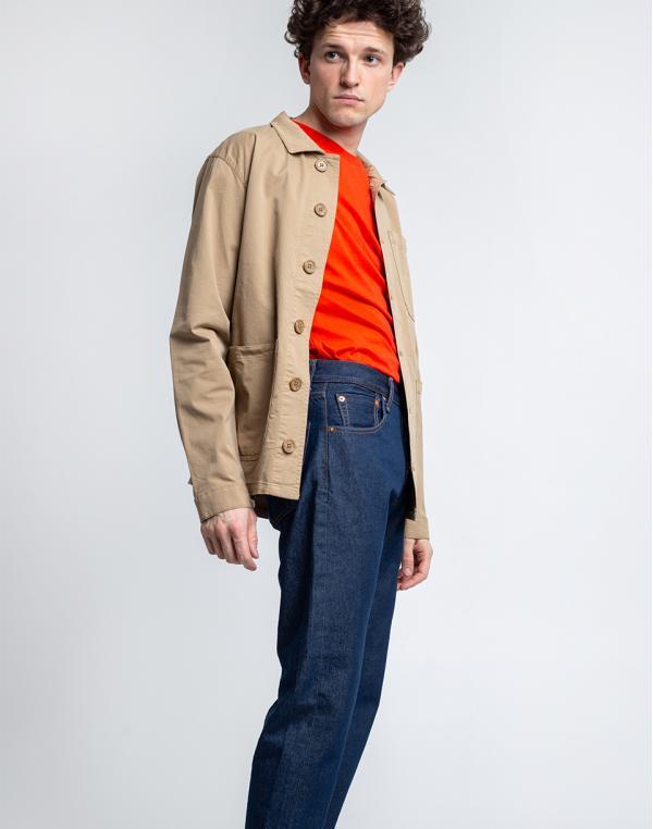 By Garment Makers The Organic Workwear Jacket 2851 Khaki S