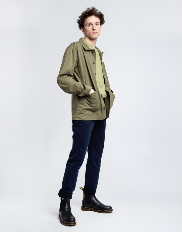 By Garment Makers The Organic Workwear Jacket 2887 Oil Green S