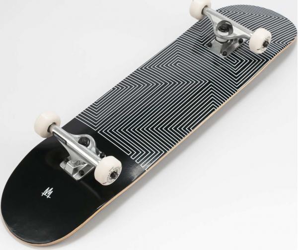 Ambassadors Komplet Skateboard Row Black černý / bílý 8.125
