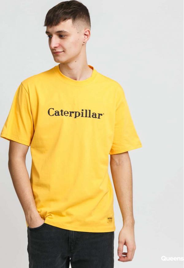 CATERPILLAR Classic Logo Tee žluté