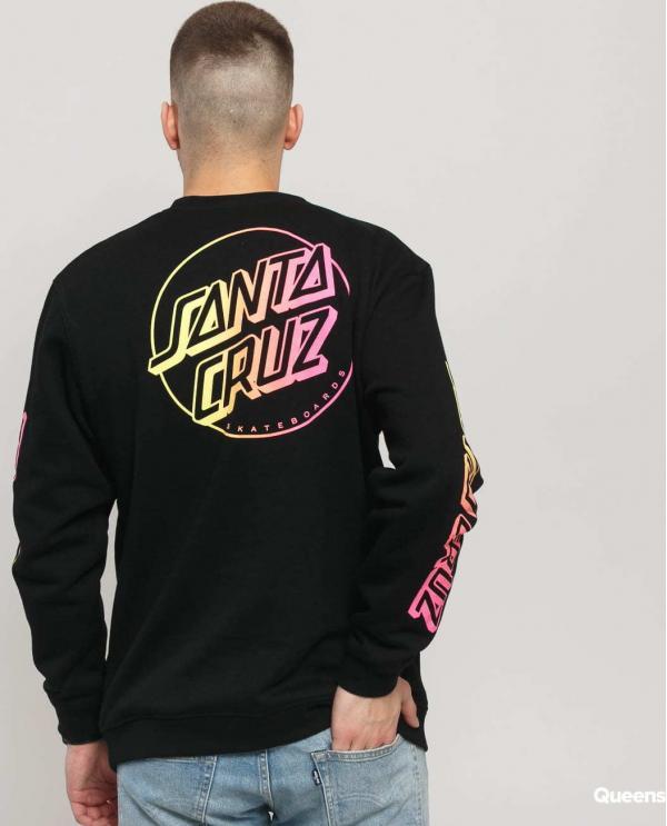 Santa Cruz Opus Stripe Fade Crew černá